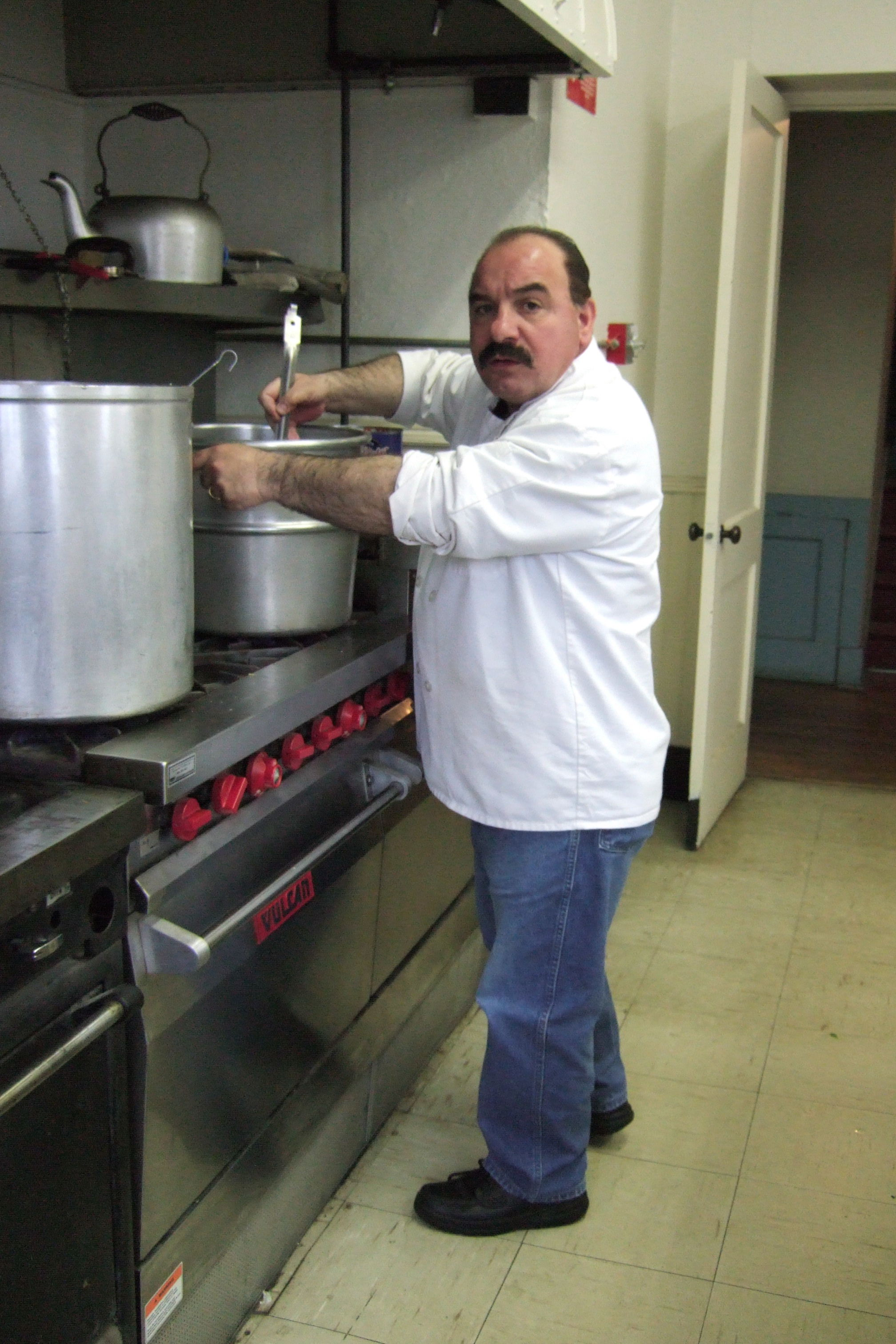 Chef Frank Imbergamo Preparing His Meatballs and Gravy